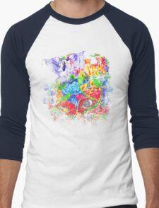 Trippy, psychedelic, arty Men's Baseball ¾ T-Shirt