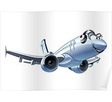 Cartoon Airliner Poster