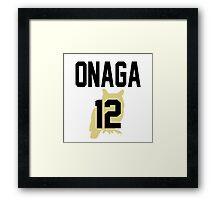 Haikyuu!! Jersey Onaga Number 12 (Fukurodani) Framed Print