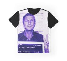 Mugshot Collection - Steve mcQueen Graphic T-Shirt