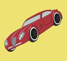 A Butch Red Muscle Car Kids Tee