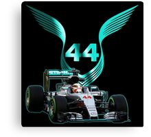 Lewis Hamilton F1 with LH 2016 44 car Canvas Print