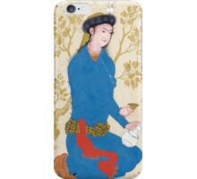 A YOUTH WITH BOTTLE AND CUP, ATTRIBUTABLE TO REZA-I 'ABBASI, WITH CALLIGRAPHY BY SULTAN 'ALI MASHHADI, PERSIA, SAFAVID, CIRCA iPhone Case/Skin