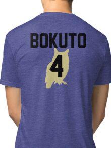 Haikyuu!! Jersey Bokuto Number 4 (Fukurodani) Tri-blend T-Shirt