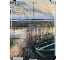 Two boats (spring evening on the lake) iPad Case/Skin