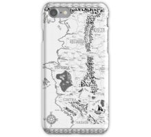 Witcher Map done in Ink iPhone Case/Skin