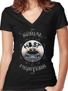 THE SERIAL HEISTERS CREW GREY Women's Fitted V-Neck T-Shirt