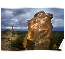 Outback Sculpture - Broken Hill Poster