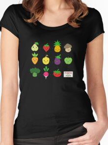 Cute Veggies Foods Women's Fitted Scoop T-Shirt