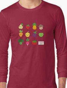 Cute Veggies Foods Long Sleeve T-Shirt