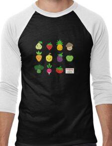 Cute Veggies Foods Men's Baseball ¾ T-Shirt