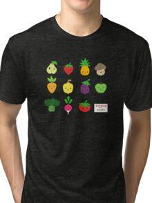 Cute Veggies Foods Tri-blend T-Shirt