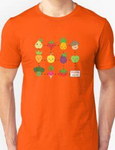 Cute Veggies Foods Unisex T-Shirt