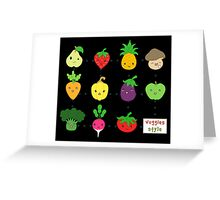 Cute Veggies Foods Greeting Card