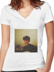 king krule baby blue Women's Fitted V-Neck T-Shirt