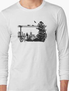 Brisbane Evening Skyline Long Sleeve T-Shirt