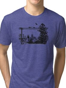 Brisbane Evening Skyline Tri-blend T-Shirt