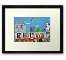 Surreal graffiti Framed Print