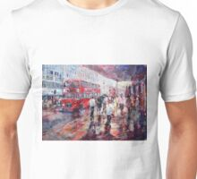 Red London Busses & Shoppers Unisex T-Shirt