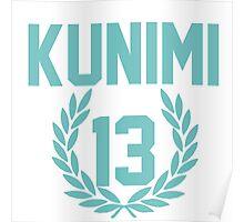 Haikyuu!! Jersey Kunimi Number 13 (Aoba) Poster
