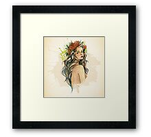 Beauty Of A Woman Framed Print