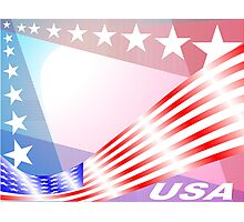 Stars and Stripes USA colors Photographic Print