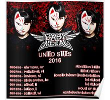 HOT OF BABY METAL TOUR DATE 2016 Poster