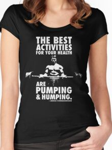 Pumping and Humping Women's Fitted Scoop T-Shirt