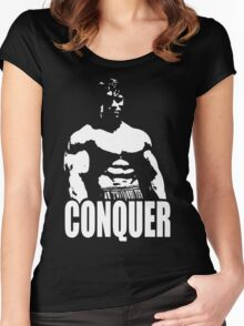 CONQUER (Arnold Standing) Women's Fitted Scoop T-Shirt