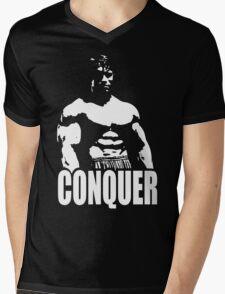 CONQUER (Arnold Standing) Mens V-Neck T-Shirt