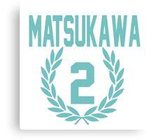 Haikyuu!! Jersey Matsukawa Number 2 (Aoba) Canvas Print