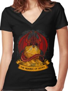 roll the dice! Women's Fitted V-Neck T-Shirt