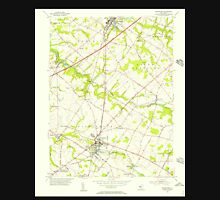 USGS TOPO Map New Jersey NJ Woodstown 255020 1955 24000 Unisex T-Shirt