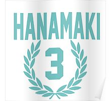 Haikyuu!! Hanamaki Jersey Number 3 (Aoba) Poster