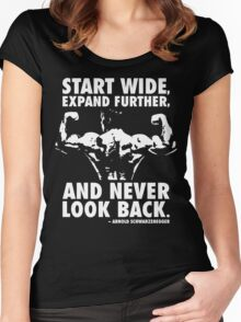 Start Wide, Expand Further, and Never Look Back Women's Fitted Scoop T-Shirt