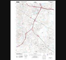 USGS TOPO Map New Jersey NJ Morristown 20110412 TM Unisex T-Shirt