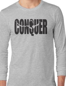 CONQUER (Arnold Iconic Black) Long Sleeve T-Shirt