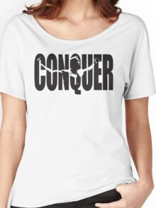 CONQUER (Arnold Iconic Black) Women's Relaxed Fit T-Shirt