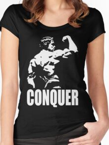 CONQUER (Arnold Back Bicep Flex) Women's Fitted Scoop T-Shirt