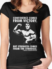 Confidence and Struggle Women's Fitted Scoop T-Shirt