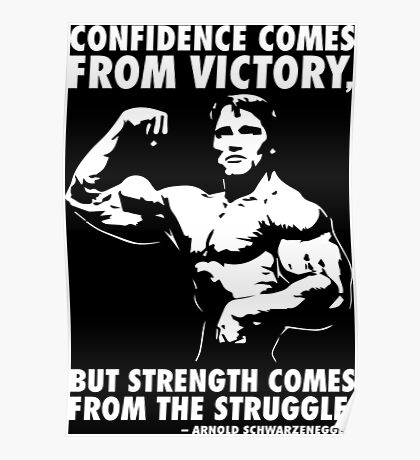 Confidence and Struggle Poster