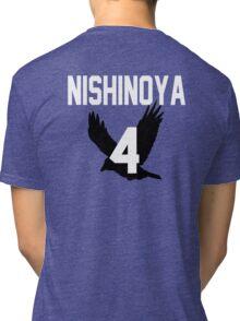 Haikyuu!! Jersey Nishinoya Number 4 (Karasuno) Tri-blend T-Shirt