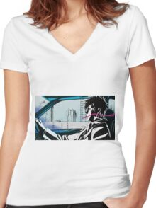 Psycho-pass Women's Fitted V-Neck T-Shirt