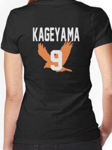 Haikyuu!! Jersey Kageyama Number 9 (Karasuno) Women's Fitted V-Neck T-Shirt