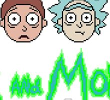 Rick and Morty Pixel Characters  Sticker