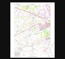 USGS TOPO Map New Jersey NJ Raritan 254813 1955 24000 Unisex T-Shirt