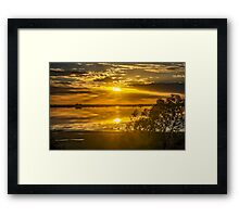 Lake Bolac, Victoria Slow Shutter Sunrise Framed Print