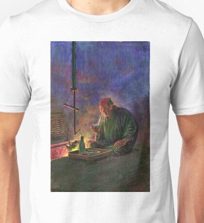 Man Drinking Sake Before the Hearth - anon - 1913 Unisex T-Shirt