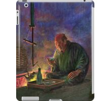 Man Drinking Sake Before the Hearth - anon - 1913 iPad Case/Skin