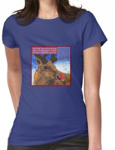 Rudolpha (Reindeer)  Womens Fitted T-Shirt